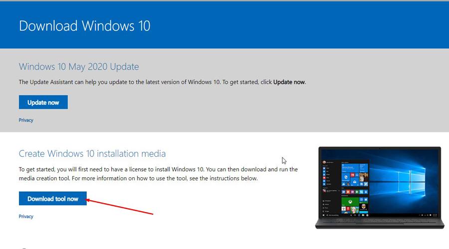 Bước 1 tải Windows 10 bằng File ISO nguyên gốc