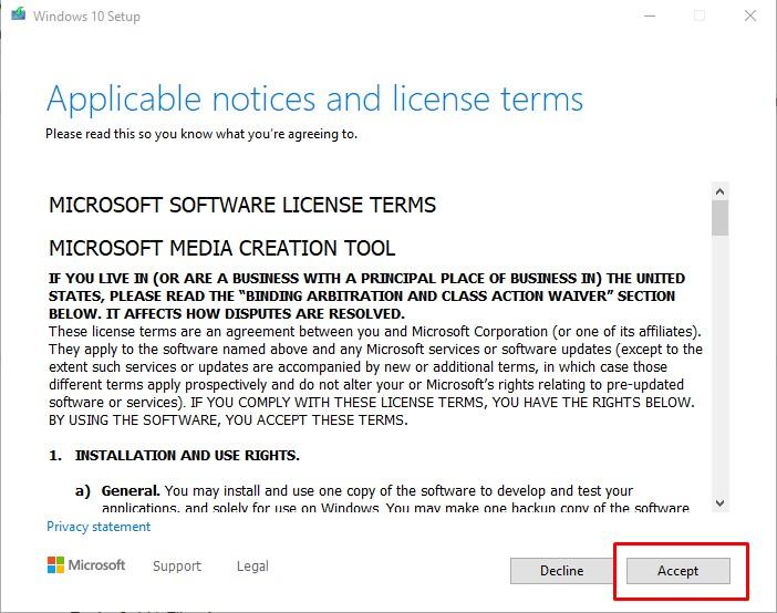 Bước 2 tải Windows 10 bằng File ISO nguyên gốc