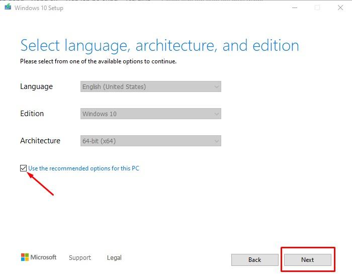 Bước 4 tải Windows 10 bằng File ISO nguyên gốc