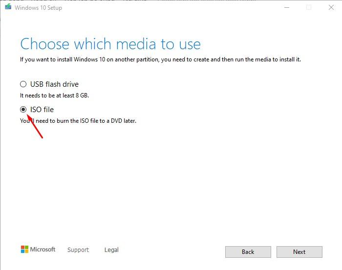 Bước 5 tải Windows 10 bằng File ISO nguyên gốc
