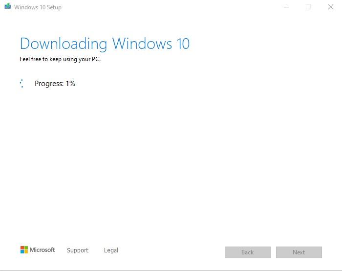 Bước 6 tải Windows 10 bằng File ISO nguyên gốc