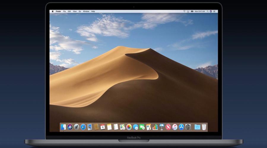 màn hình chính của Mojave