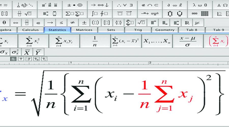 các chức năng  MathType