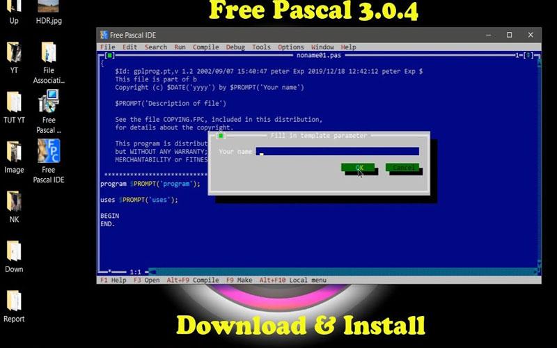 Free Pascal phần mềm lập trình cho người mới bắt đầu
